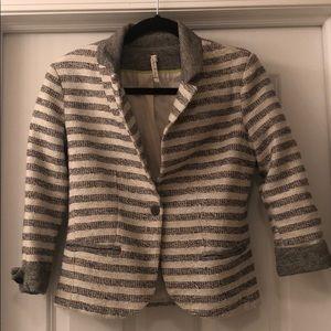 Willow & Clay 3/4 Sleeve Striped Blazer